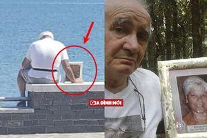 Cụ ông 70 tuổi mang di ảnh của vợ đi ngắm biển mỗi ngày vì 'không muốn ở một mình'