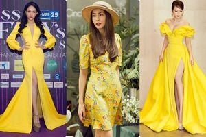 Không muốn hóa thành 'gà con lông vàng' như Minh Hằng, chị em phải học ngay các fashionista đình đám Vbiz cách diện gam màu hot trend này