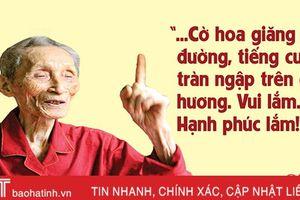 Ngày 'khai sinh' đất nước trong ký ức cụ ông 102 tuổi ở Hà Tĩnh