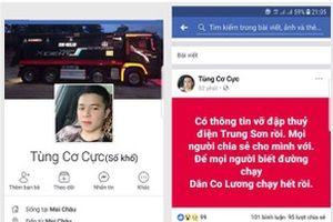 Thanh Hóa: Bác bỏ thông tin 'vỡ đập thủy điện Trung Sơn' trên mạng Facebook