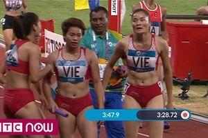 Clip: Quách Thị Lan bứt tốc xuất sắc, điền kinh nữ VN giành HCĐ 4x400m