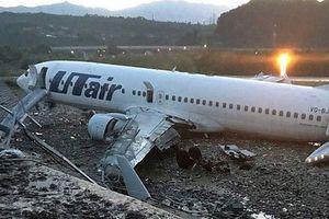 Nga: Máy bay trượt khỏi đường băng, bốc cháy dữ dội