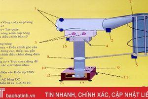 'Máy bắn bóng chuyền' của nhóm giáo viên Hà Tĩnh được ghi danh 'Sách vàng sáng tạo Việt Nam'
