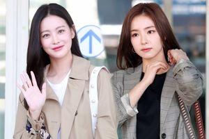 Oh Yeon Seo lần đầu xuất hiện sau 5 tháng công khai hẹn hò Kim Bum, đọ sắc cùng Shin Se Kyung tại sân bay