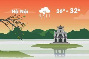Thời tiết ngày 2/9: Hà Nội, Sài Gòn đều mưa dông