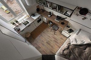 Chưa đầy 18m2, căn hộ nhỏ vẫn tiện nghi không kém nhà rộng