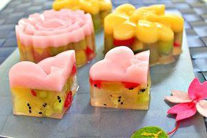 Cách làm bánh trung thu hoa quả cho người ăn kiêng
