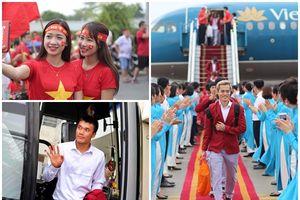 Những hình ảnh ấn tượng trong ngày các cầu thủ Olympic Việt Nam trở về