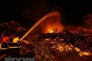 An Giang: Hỏa hoạn thiêu cháy 5 căn nhà tại huyện Tri Tôn