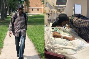 Suốt 9 năm, cụ ông 99 tuổi đi bộ 10 km mỗi ngày thăm vợ nằm viện