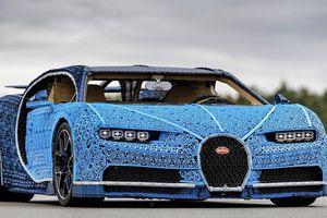 Cận cảnh Bugatti Chiron được làm hoàn toàn bằng mảnh ghép LEGO