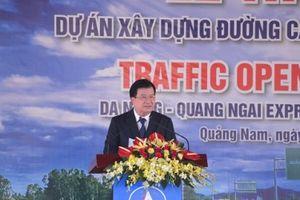 Phó Thủ tướng Trịnh Đình Dũng: Sớm hoàn thiện hạng mục phụ trợ tuyến cao tốc Đà Nẵng-Quảng Ngãi