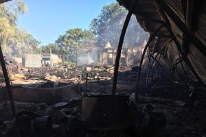 Quảng Nam: Cháy xưởng gỗ lớn ở xã Điện Hòa