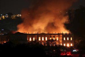 Bảo tàng quốc gia 200 năm tuổi của Brazil bị thiêu rụi