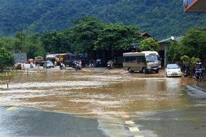 Mưa to gây ảnh hưởng giao thông tại nhiều tuyến quốc lộ Sơn La