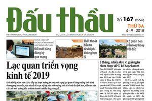 Báo Đấu thầu số 167 ra ngày 4/9/2018