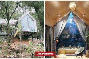 Ấn tượng với ngôi nhà 36m2 cheo leo trên đồi thông ở Sóc Sơn