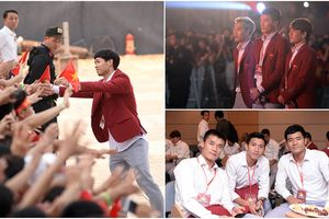 Quang Hải, Công Phượng...tươi cười vẫy chào khán giả tại SVĐ Mỹ Đình