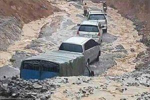 Lũ quét và ngập úng ở Lai Châu, giao thông nhiều nơi ách tắc