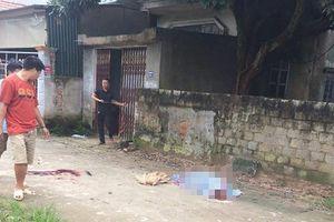 Phong tỏa hiện trường vụ 1 người bị chém chết tại chỗ giữa trưa