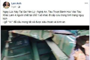 Thiếu nữ giả thông tin tai nạn đường sắt để câu view