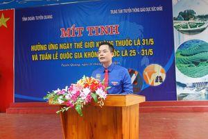 Tuyên Quang: Phấn đấu 100% cán bộ Đoàn các cấp không hút thuốc lá vào 2020