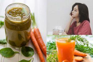 Hỗn hợp thức uống làm từ cà rốt giúp thải sạch độc tố trong cơ thể, da đẹp dáng thon bất ngờ