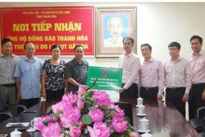 Ngân hàng Chính sách xã hội Việt Nam ủng hộ người dân Thanh Hóa bị thiệt hại do mưa lũ