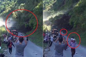Clip: Sạt lở kinh hoàng ở Sơn La, dân hoảng loạn tháo chạy