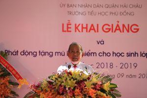 Phó Thủ tướng Trương Hòa Bình dự khai giảng ở Đà Nẵng