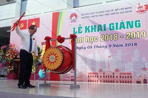 Bí thư Nguyễn Thiện Nhân dự khai giảng năm học mới