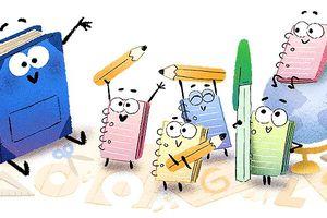 Google chào mừng Ngày khai giảng bằng Doodle ngộ nghĩnh