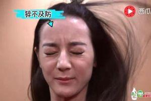 'Mỹ nữ Tân Cương' Địch Lệ Nhiệt Ba lộ trán hói và da nhạt nhợt khi chơi game trên truyền hình