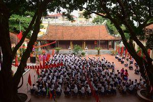 Ngôi trường đặc biệt giữa Thủ đô khai giảng trong sân đình