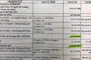 Vụ 3 quan chức Thanh Hóa đi Mỹ: UBND tỉnh chưa 'quyết'
