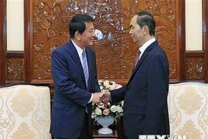 Chủ tịch nước tiếp Đại sứ đặc biệt Việt-Nhật, Nhật-Việt Ryotaro Sugi