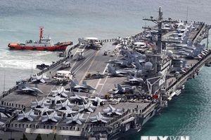 Tàu sân bay Ronald Reagan của Mỹ sắp tới căn cứ hải quân Hàn Quốc
