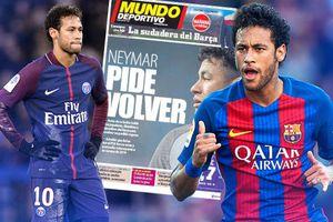 Neymar van xin để được trở lại Barcelona