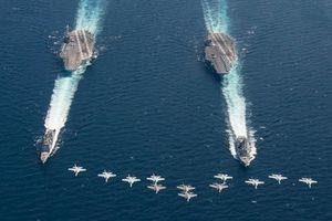 Tung loạt tàu sân bay diễn tập, Mỹ phát thông điệp dằn mặt Nga, Trung