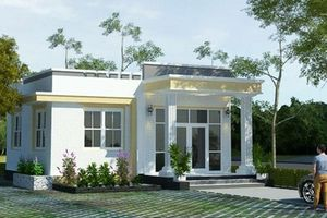 10 mẫu nhà mái bằng hiện đại dưới 700 triệu đồng