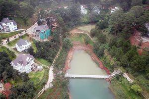 Doanh nghiệp xây kè chắn ngang di tích thắng cảnh hồ Tuyền Lâm