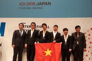 4 thí sinh Việt Nam đoạt huy chương Olympic Tin học quốc tế năm 2018
