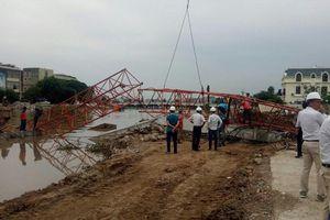 Hải Phòng: Gãy cẩu thi công dự án chỉnh trang sông Tam Bạc