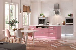 'Đốn tim' với những căn bếp hồng cực đáng yêu