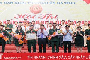 Phòng Hậu cần Bộ CHQS Hà Tĩnh nhất Hội thi Cán bộ kiểm tra cơ sở giỏi cụm 3