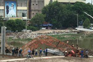 Hải Phòng: Gãy cần cẩu thi công dự án chỉnh trang sông Tam Bạc