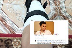 Chết cười với phản ứng của Đức Huy khi thấy Xuân Mạnh đăng ảnh bị chấn thương ở chân
