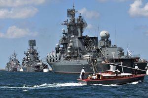 Không, Hải quân Nga phô diễn sức mạnh trên Địa Trung Hải