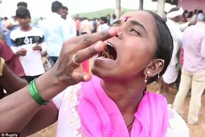 Lễ hội cho bọ cạp độc tự do bò trên người ở Ấn Độ