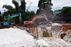 Cảnh báo người dân không sử dụng nước suối tại khu vực vỡ đập nước thải
